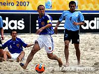 【FIFAビーチサッカーワールドカップ リオデジャネイロ2007】ビーチサッカー日本代表、前回大会準優勝のウルグアイに惜しくも敗れる