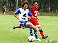 日本代表候補、流通経済大学と練習試合を実施し、3日間の合宿を締めくくる