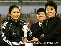 【東アジア女子サッカー選手権2008 決勝大会】MVPに澤が、得点王に大野が輝く!